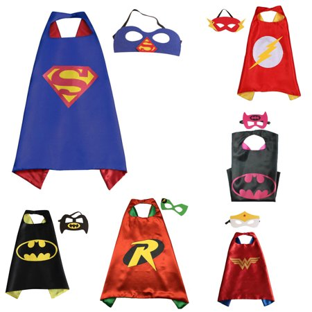 6 Set Superhero  Costumes - Capes and Masks with Gift Box by Superheroes](Personalised Superhero Costume)