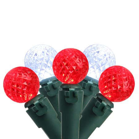 Brite Star 50ct G12 Berry LED String Lights Red/Pure White - 16.6' Green Wire