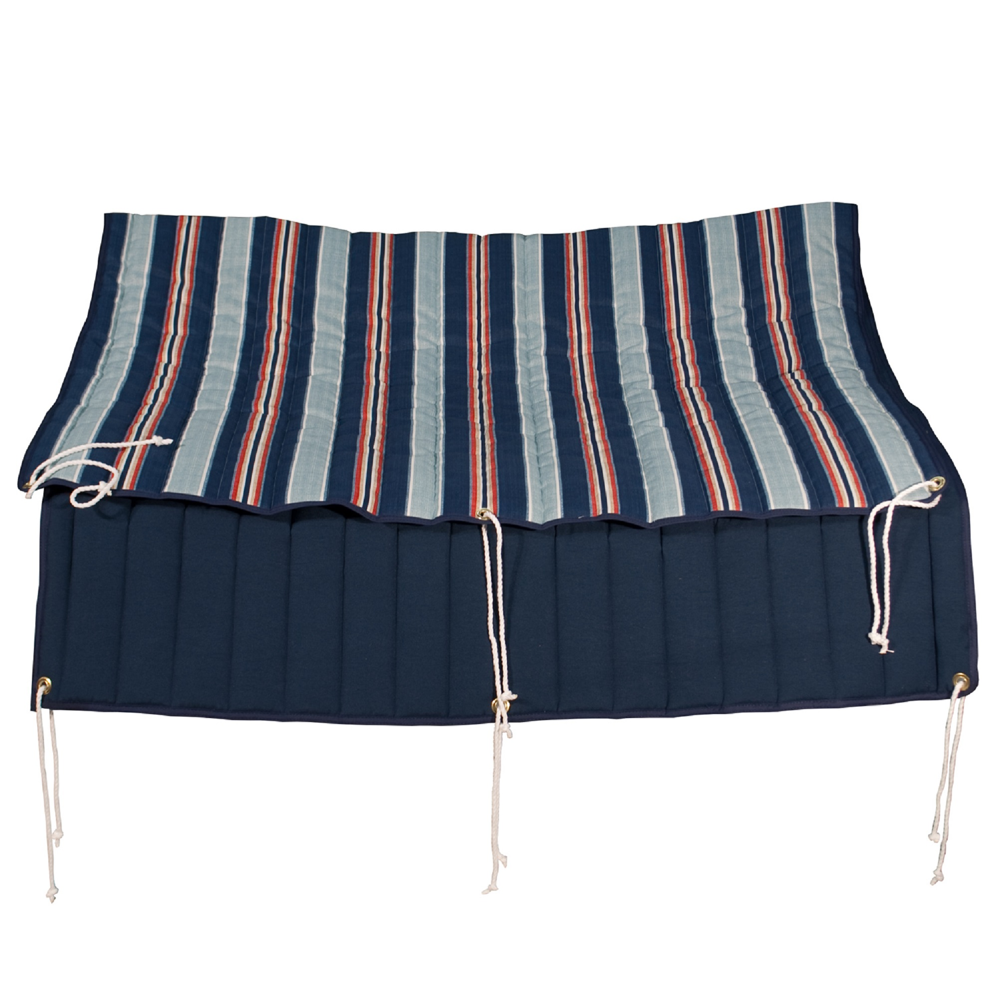 "82"" x 50"" Blue and Gray Reversible Quilted Reversible Hammock Pad"