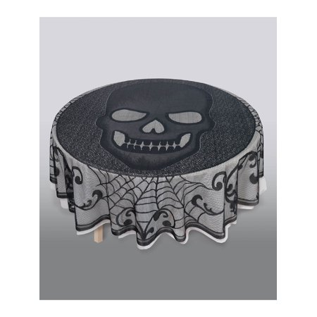 This Is Halloween Covers (Skull Lace Round fabric Tablecover Halloween)