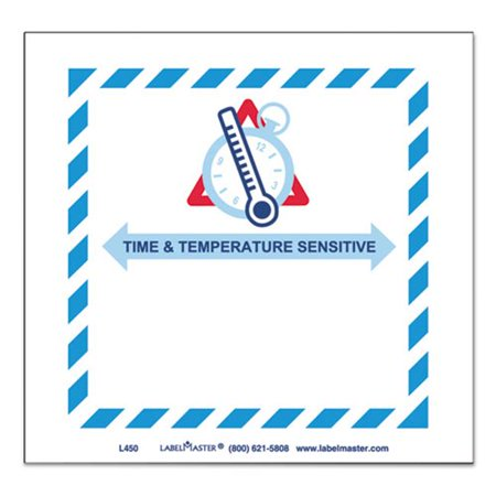 Lmt L450 Shipping   Handling Self Adhesive Label  44  4 75 X 5  44  Time  44  Temperature