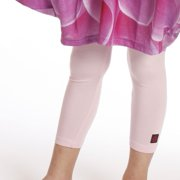 Little Girls Pink Viscose Jersey Pedal Pusher Leggings 2T-6