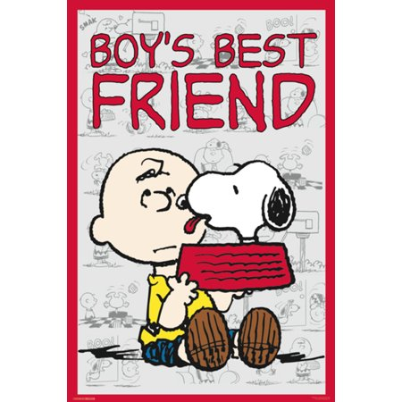 Peanuts Boys Best Friend Snoopy Charlie Brown Comic Strip Poster 24x36 inch