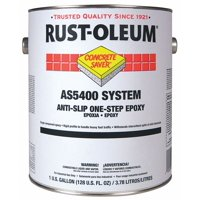 RUST-OLEUM AS5468402 1 gal. Anti-Slip Floor Coating, Epoxy Ester, Flat Tile Red