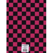 Printed Felt 9 Inch X 12 Inch-Checkerboard- Pink/Black