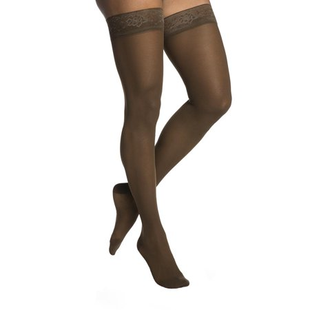 Sigvaris 782 EverSheer Open Toe Thigh Highs w/ Grip Top - 20-30 mmHg