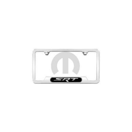 Mopar 82214920 Polished Srt Logo License Plate Frame