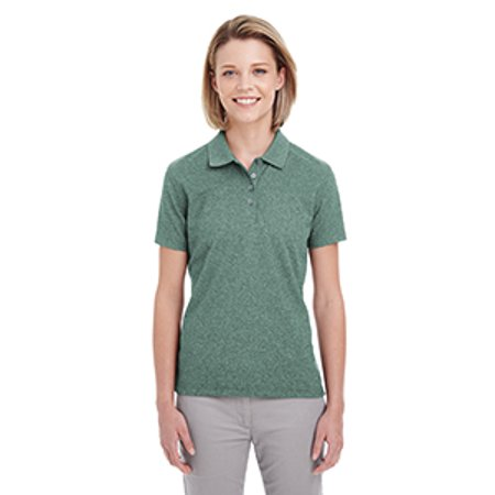 Uc100w Uc Lads Heathered Pique Polo Forest Gren Hthr Xl - image 1 of 1