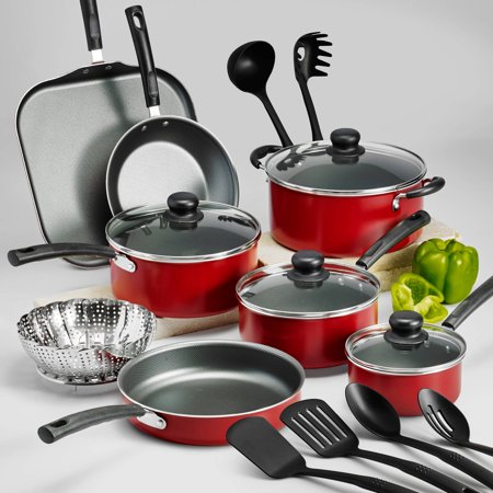 Tramontina Primaware 18 Piece Non-stick Cookware Set, Red