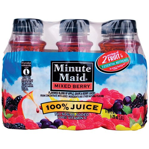 Minute Maid Juices To Go 100% Mixed Berry Juice, 6pk
