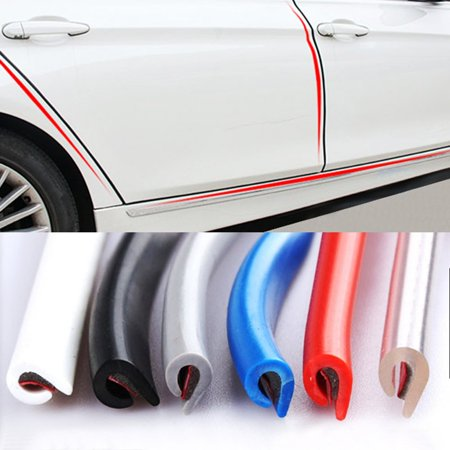 Universal Auto Car Door Edge Rubber Scratch Molded Protective Strip Protection - image 3 of 4