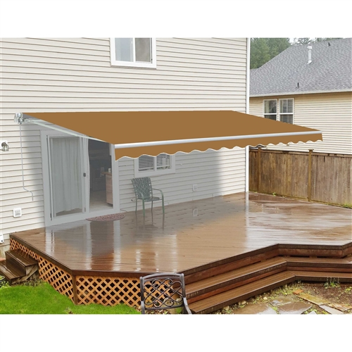 ALEKO 12'x10' Retractable Patio Awning, Sand Color