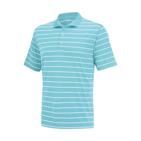 NEW Adidas Puremotion 2-Color Stripe Jersey Frost Blue/White XXL Golf Shirt
