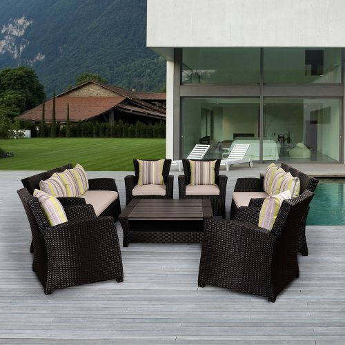 Atlantic Anchorage 8 Piece Seating Set with Cushions