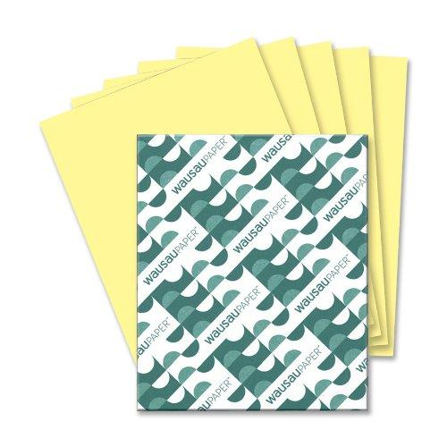 """Wausau Paper Vellum Paper - For Inkjet, Laser Print - Letter - 8.50"""" X 11"""" - 67 Lb - Recycled - 250 / Pack - Yellow (WAU82331)"""