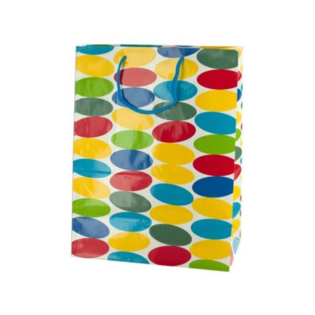 9.5 x 5.25 x 12.5 in. Large Multi-Colored Dots Gift Bag, Pack of 72 - image 1 of 1