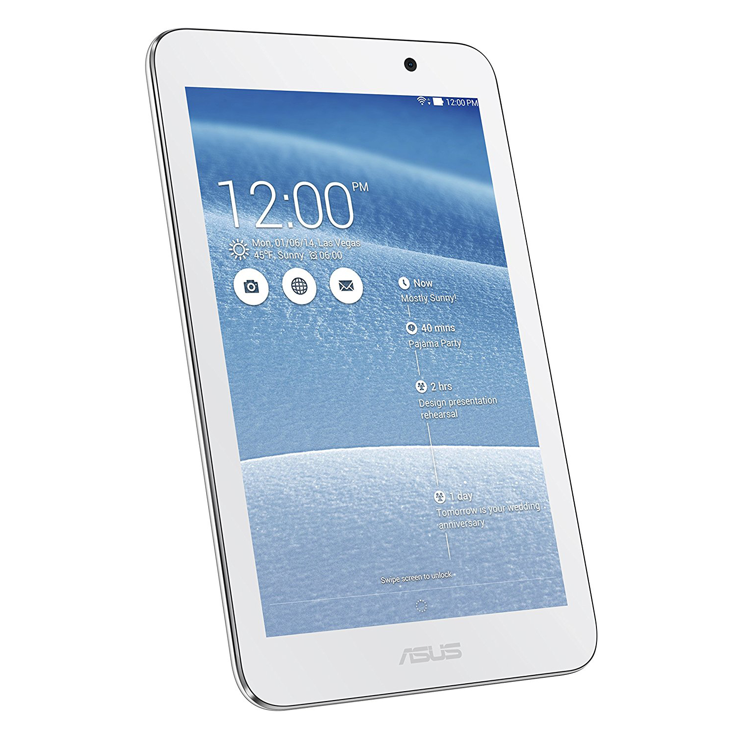 "ASUS MeMo Pad 7"" HD Tablet Atom Z3745 1.33GHz 1GB 16GB SSD ME176CX - White"