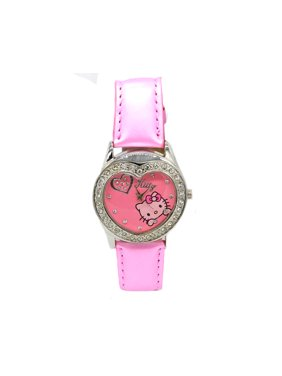 bb602e618 Product Image Heart Shape Kitty Watch with Crystal Hello Kitty Style Design Pink  Woman Girls WATCH-KT1