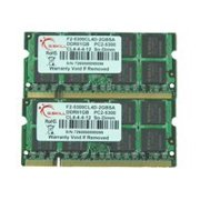 G.Skill SA Series - DDR2 - 2 GB : 2 x 1 GB - SO-DIMM 200-pin - 667 MHz / PC2-5300 - CL4 - 1.8 V - unbuffered - non-ECC
