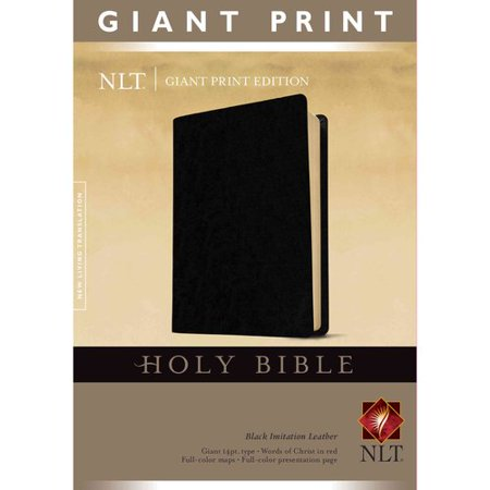 Holy Bible  New Living Translation  Black  Imitation Leather  Classic Text Edition  Giant Print