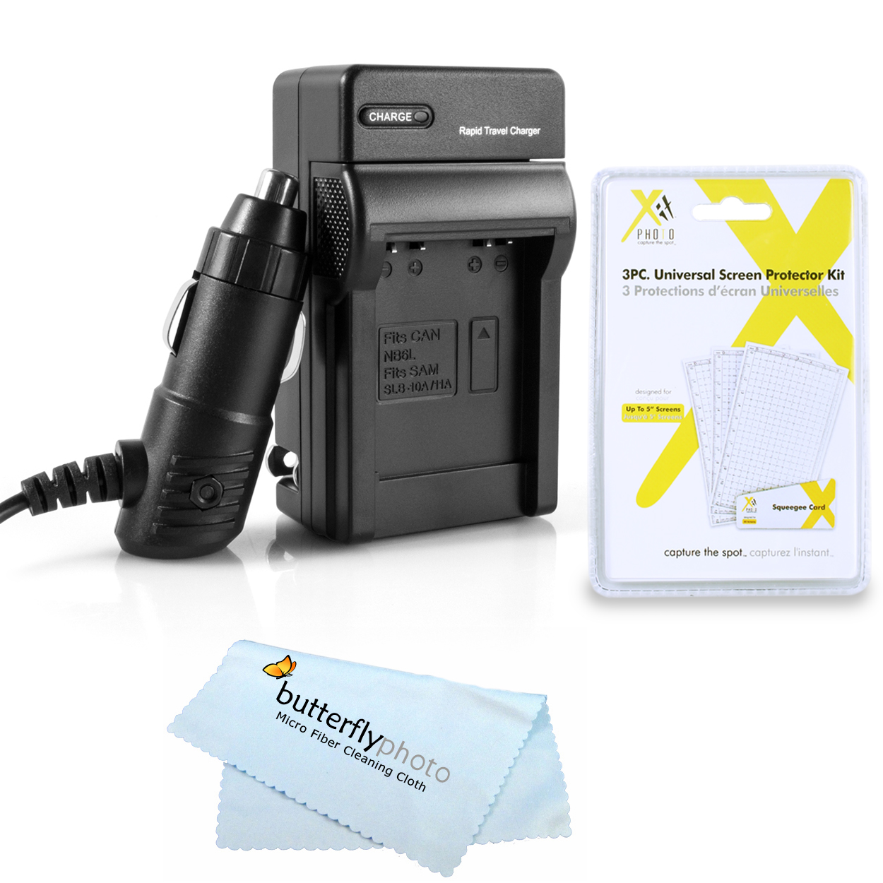 Battery Charger Kit For Nikon Coolpix S3700, S2800, S2900, S33, S7000, S6900, S4300, S3300, S5200, S6500, S3200, S4200, S32 Digital Camera Includes Ac/Dc Rapid Charger For Nikon EN-EL19 Battery + More