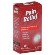 NatraBio Pain Relief 60 Tablets