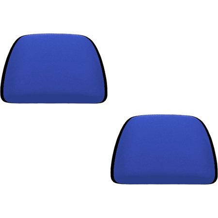 2 Piece Universal Fit (U.A.A. INC. Blue 2 Piece Soft Polyester Universal Fit Head Rest Cover Car Truck Suv Van)