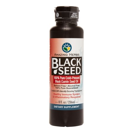 Amazing Herbs Egyptian Black Seed Oil, 8 (Eight Herb)