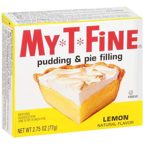 My*T*Fine: Pudding & Pie Filling Lemon, 2.75 Oz