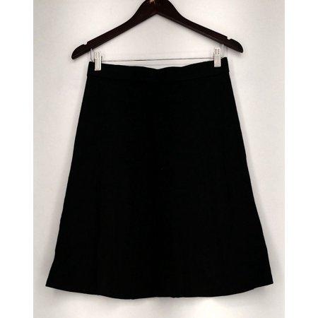 Liz Claiborne New York Skirt Sz XS Essentials Knee Length Black -
