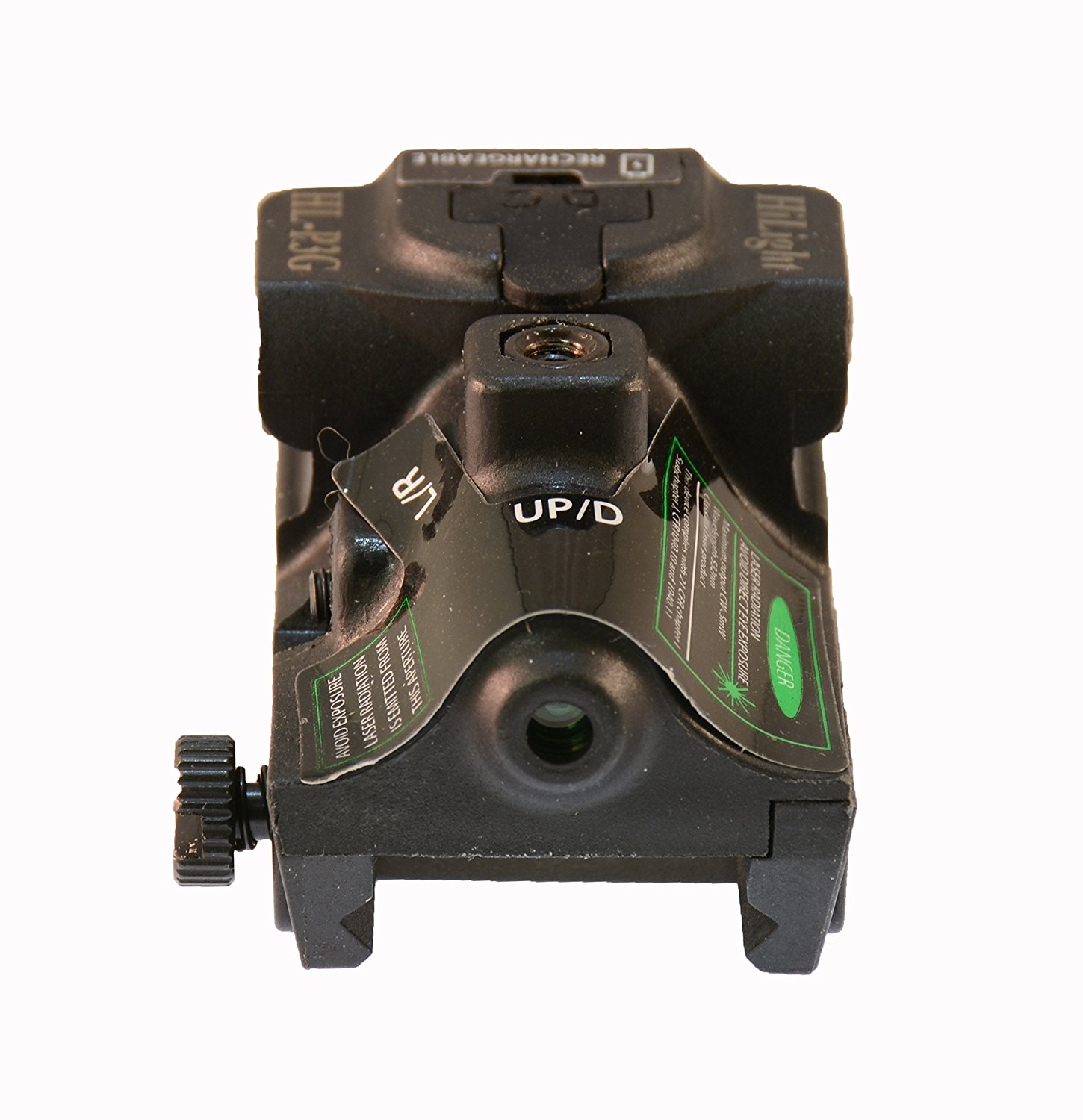 Pistol Green Laser Sight (USB RECHARGEABLE) Handgun Scope P3G by HiLight by