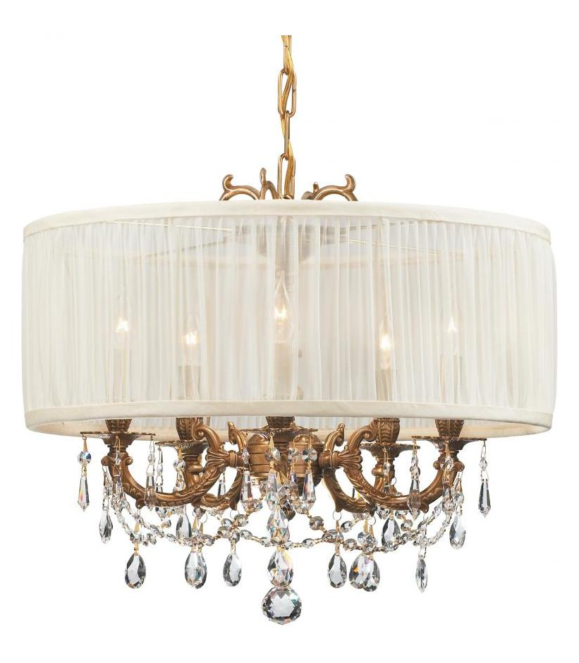 Crystorama 5535-AG-SAW-CLS Five Light Mini Chandeliers by Crystorama