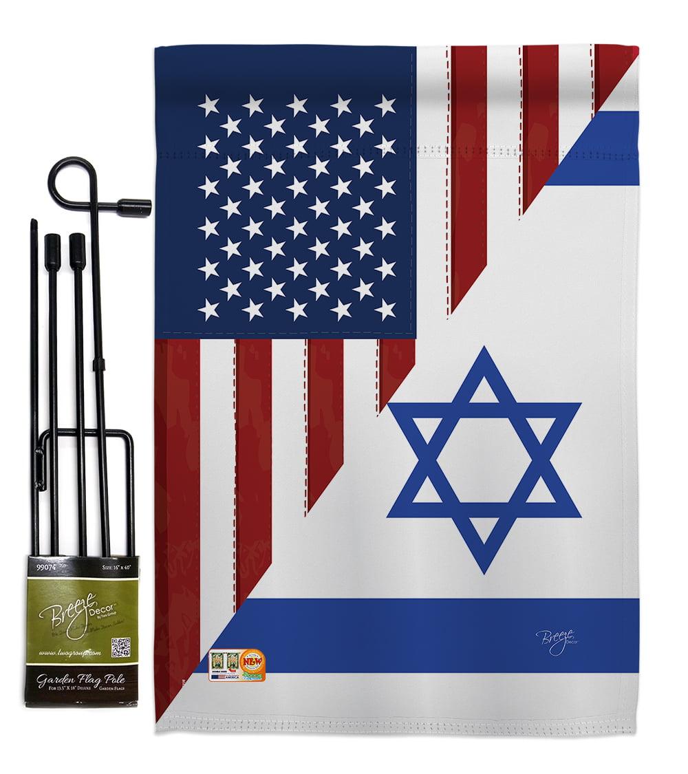 Us Israel Friendship Gf Flags Of The World Impressions Decorative Vertical 13 X 18 5 Double Sided Garden Flag Set Metal Pole Hardware Walmart Com Walmart Com