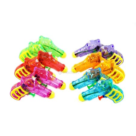 12 Squirt Guns For Kids - Transparent Neon Bulk Water Guns With Classic Design And Durable Materials - Squirt Guns