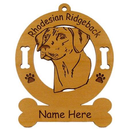 Rhodesian Ridgeback Head Dog Ornament Personalized with Your Dog's Name