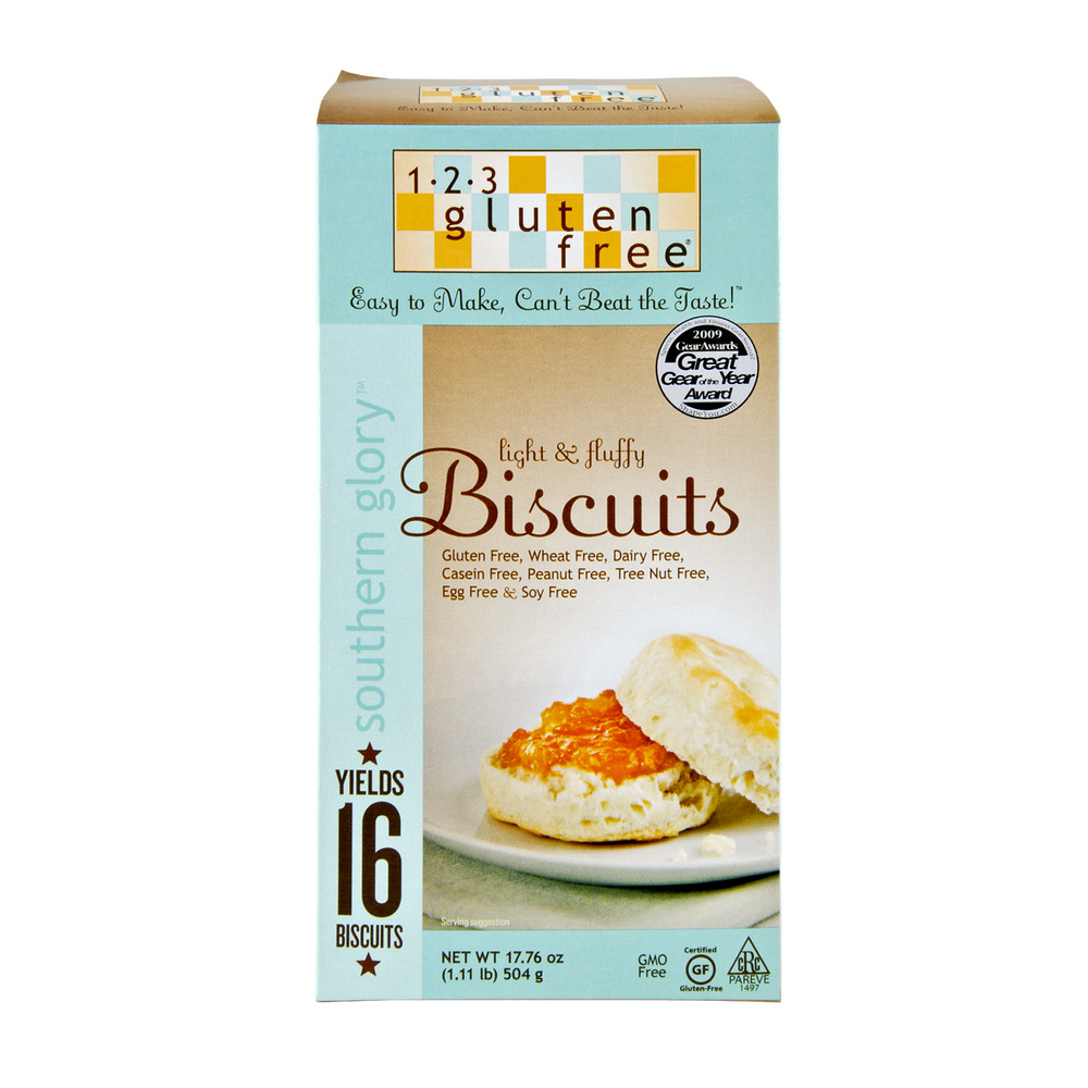 1-2-3 Gluten Free Southern Glory Light & Fluffy Biscuits, 17.76 OZ