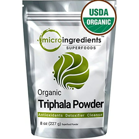 Antioxidant Rich (Micro Ingredients USDA Organic Triphala Powder, 8 Ounce, Rich Antioxidant, Support Detoxification &)