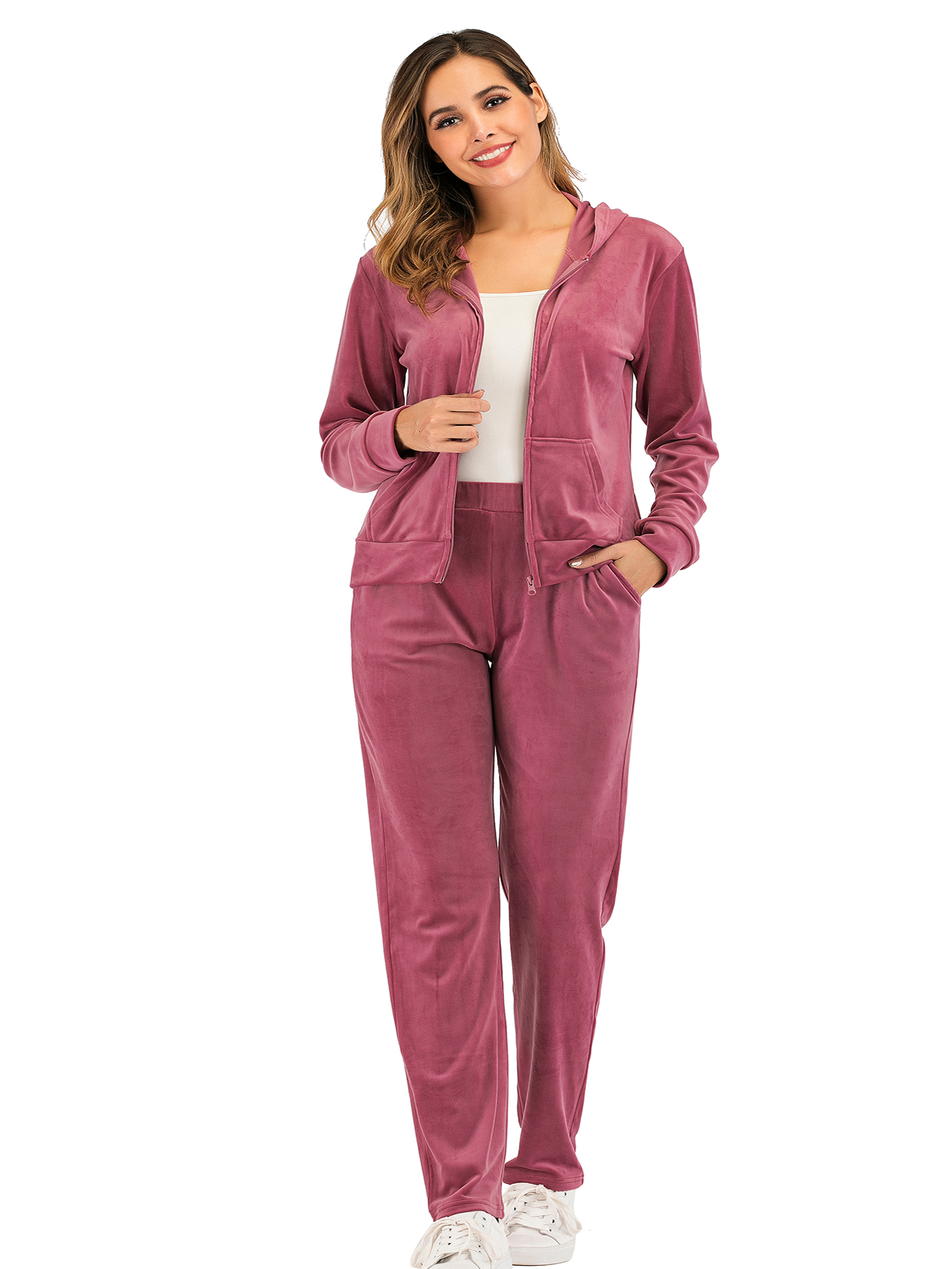 Kstare Womens Sweatsuit Set Jogging Zipped Fashion Sport Suit Hoodie and Pants Suits Pullover Tracksuits Outfits