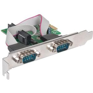 Manhattan Serial PCI Express Card w/ 2 DB9 Ports