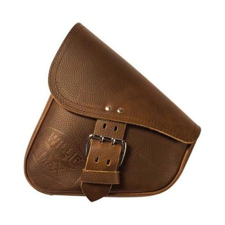 Willie & Max 59907-00 Leather Swingarm Bag - Brown with Chrome Buckle