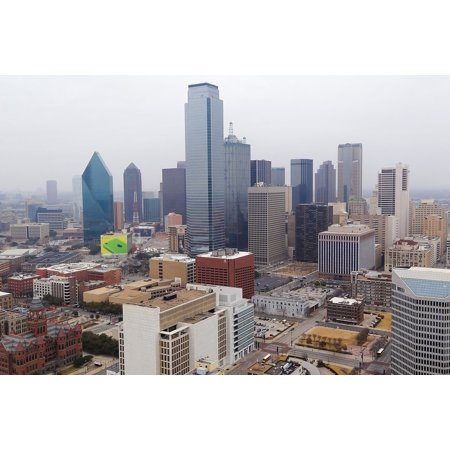 Laminated Poster America USA Downtown Dallas Texas Skyline City Poster Print 11 x 17 ()