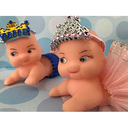 Baby Prince and Princess Cupid Doll Baby Shower 1st Birthday Cake Decoration