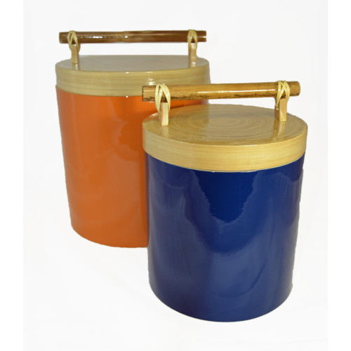 Bodhi Tree Collections Bamboo 2 Piece Kitchen Canister Set