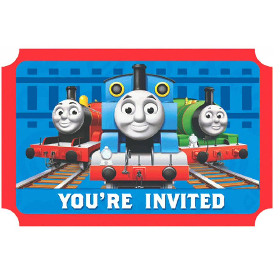 Thomas the Train Invitations, 8pk