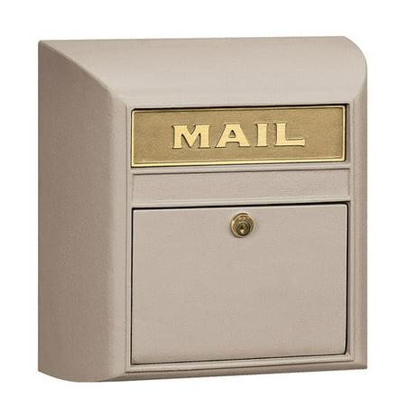 Salsbury 4150P BGE Modern Mailbox with Plain Door Beige