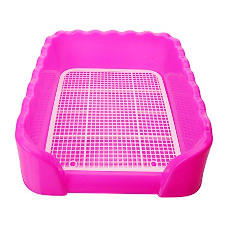 Xinlink New Indoor Plastic Fence Large Pet Dog Puppy Potty Toilet Pee Training Tray Pad Size L -