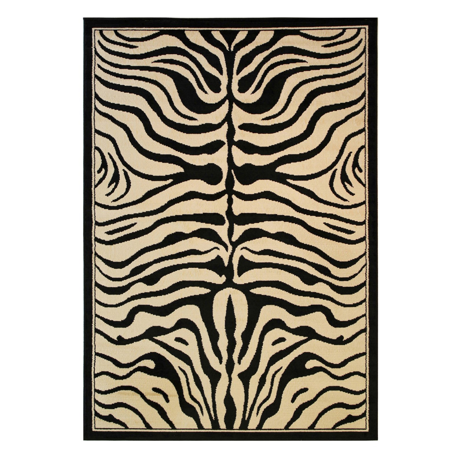 Well Woven Dulcet Zebra Modern Area Rug, Ivory