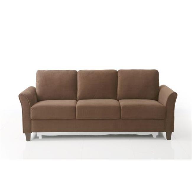 lifestyle solutions ccwenks3m26cfva westin curved arm sofa coffee walmart