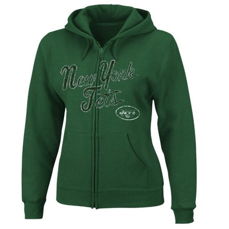 New York Jets NY Womens Full Zip Majestic Hoodie by