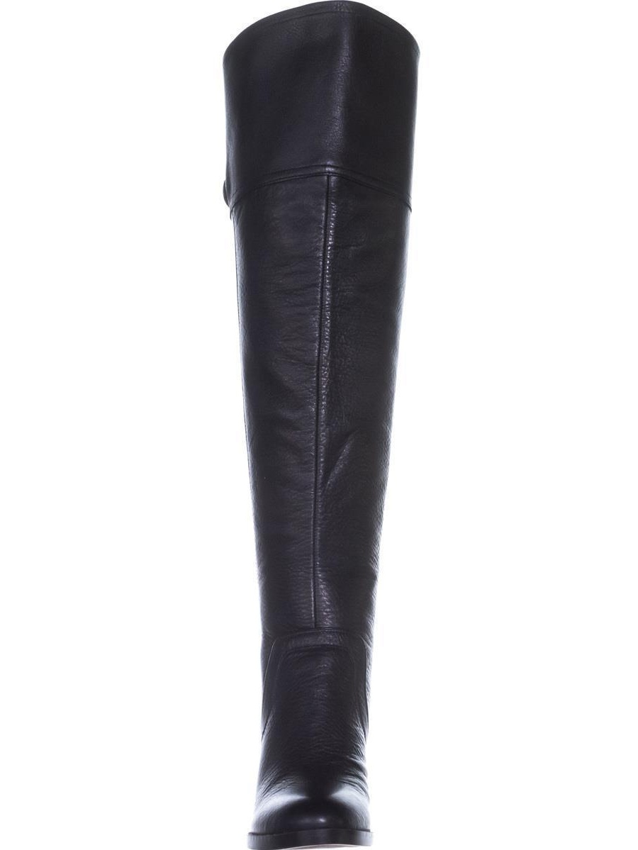 Womens Calf Franco Sarto Ollie Wide Calf Womens Over-The-Knee Boots, Black Leather 9a75be